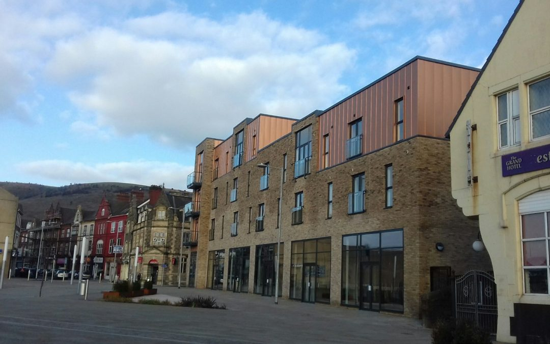 Completed apartment block to form part of new look Port Talbot