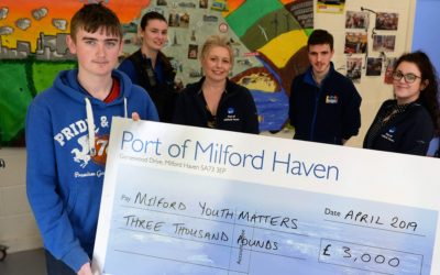 Port sponsors Milford Youth Matters to deliver youth provision throughout 2019
