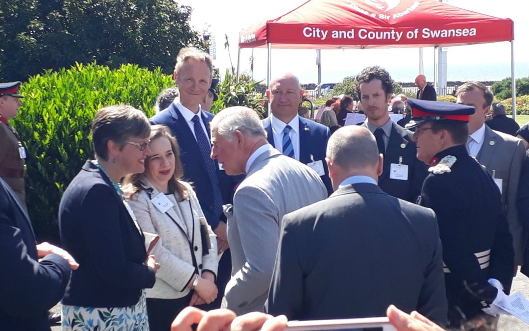 The sun and crowds came out for Royal visit