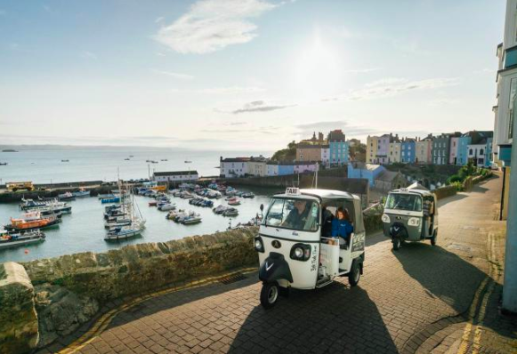 Tuk tuks in Tenby: the new taxi service in town