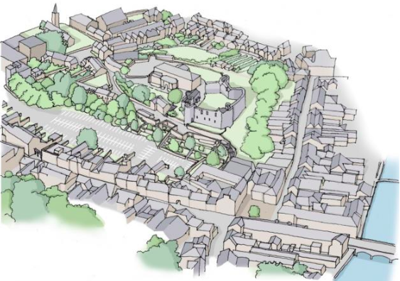 Heritage centre, pathways and entertainment plans for Haverfordwest castle