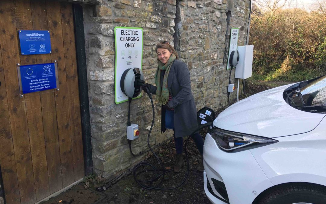 Solar-Powered Electric Vehicle Charge Point in Dunvant