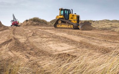 Crucial winter sand dune work completed at Pembrey Burrows