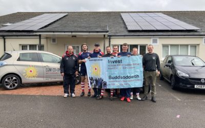 Scrum…tious solar panels tackle climate change at Cwmgors Rugby Club!