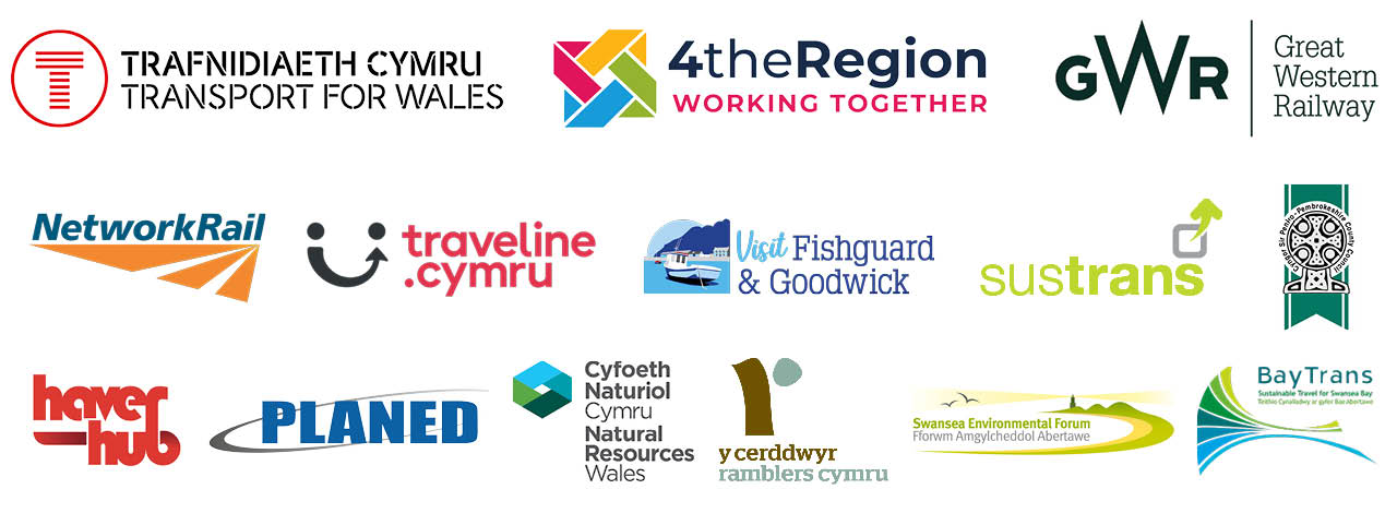 Partner logos of South West Wales Connected